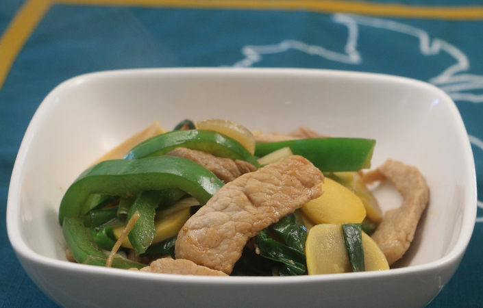 Ginger Scallion Stir-fry with Pork