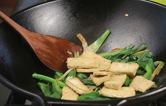 Ginger Scallion Stir-fry with Tofu