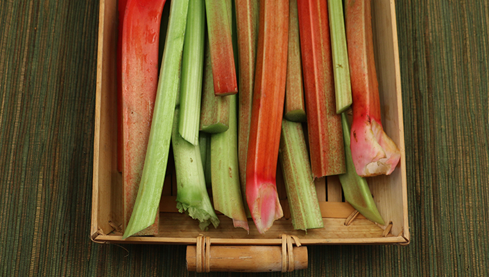Rhubarb Tart with Brown Butter