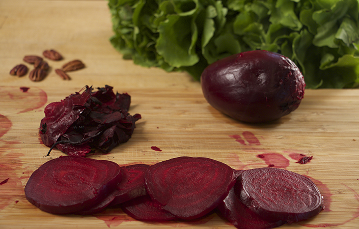 Beet, Goat Cheese, & Escarole Salad