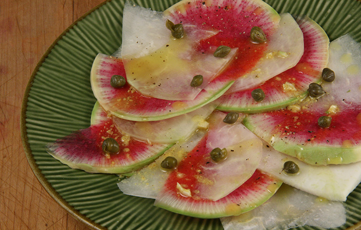 Watermelon Radish Carpaccio