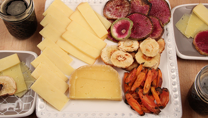 Roasted Root Vegetable Cheese Tray by Early Morning Farm CSA