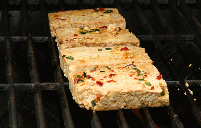 Grilled and Marinated Tofu by Early Morning Farm