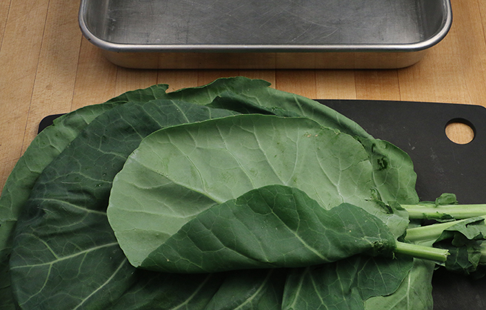 Collard Wraps by Early Morning Farm CSA