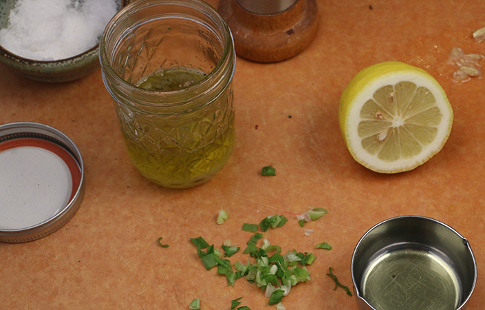 Lemon Scallion Dressing