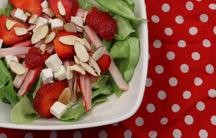 Strawberry and Pickled Radish Salad by Early Morning Farm CSA