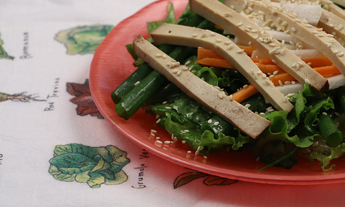 Scallion Salad with Sesame Dressing