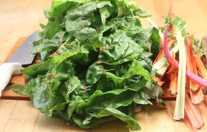 Swiss Chard Stems & Leaves