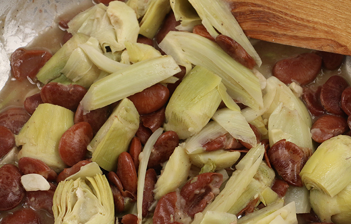 Braised Fennel with Artichokes & Heirloom Lima Beans
