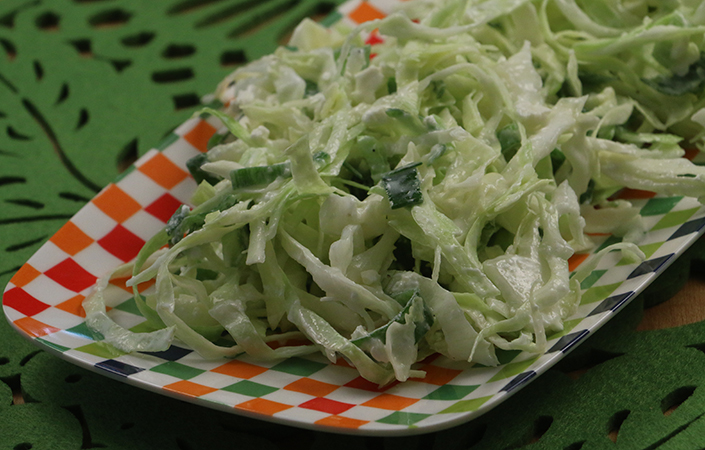 Creamy Cabbage Slaw with Feta by Early Morning Farm CSA