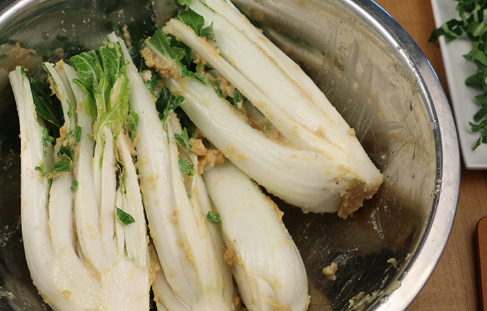 Grilled Bok Choy with Miso by Early Morning Farm CSA