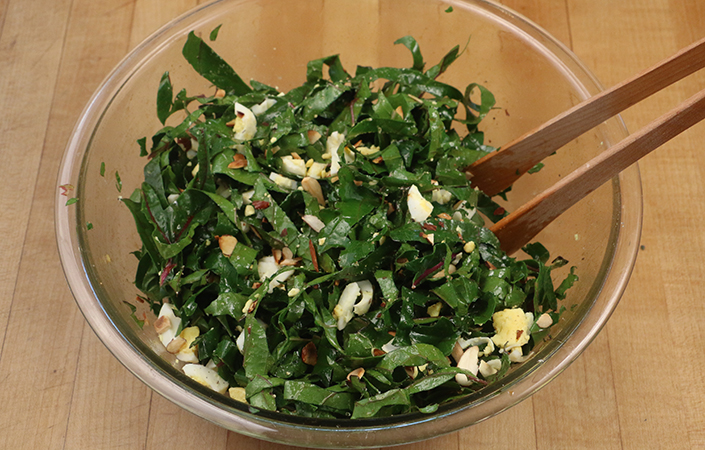Smoky Kale Salad by Early Morning Farm CSA