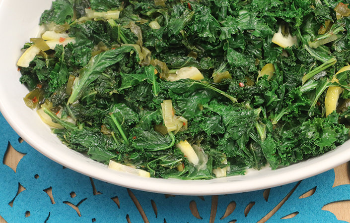 Spicy Kale with Lemon by Early Morning Farm CSA