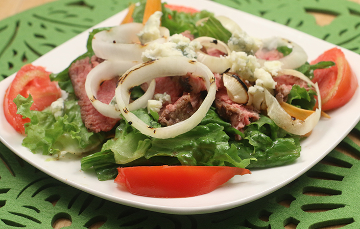 Strip Steak Salad by Early Morning Farm CSA