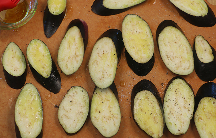 Grilled Eggplant with Miso Dressing