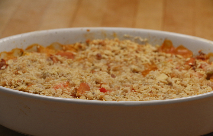 Heirloom Tomato Crisp