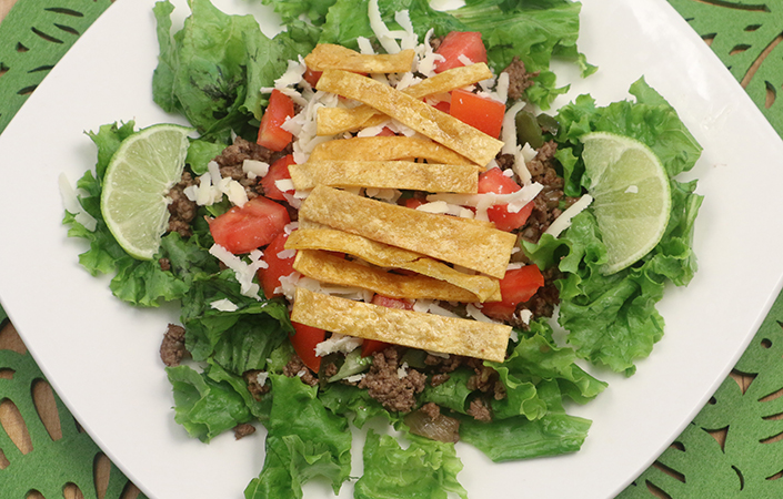 Taco Salad with Grass-fed Beef