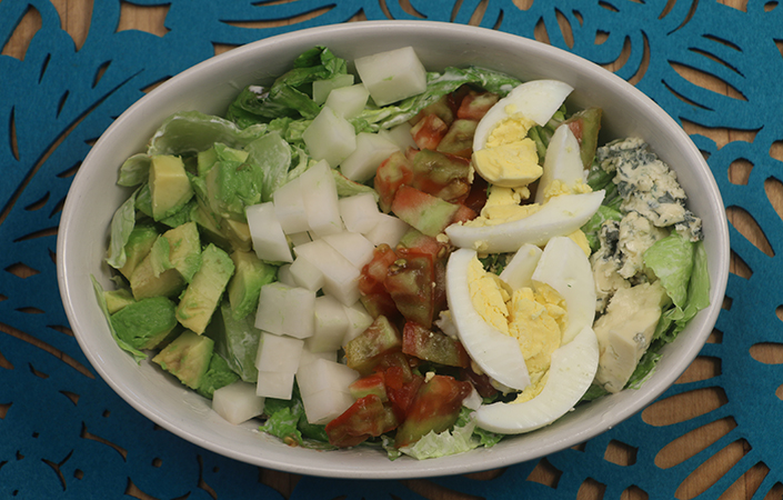 Vegetarian Cobb Salad with Creamy Dill Dressing