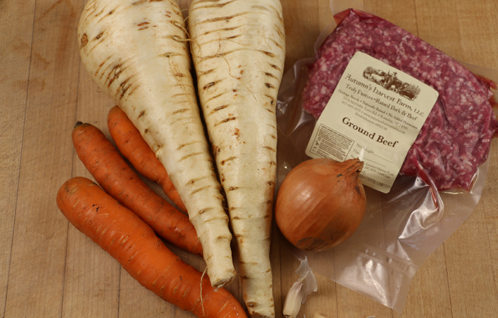Carrot Parsnip Shepherd's Pie