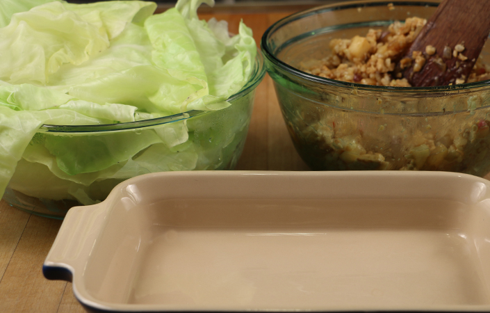 Asian Cabbage Rolls with Tempeh