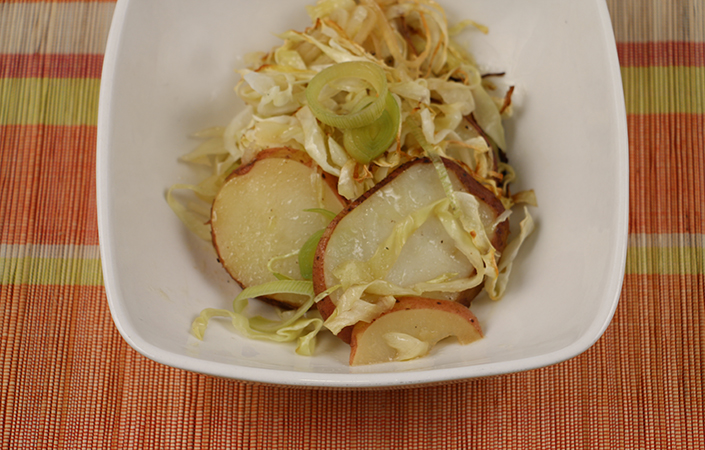 Baked Cabbage with Potatoes & Leeks
