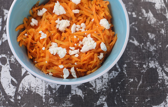 Carrot Slaw with Toasted Cumin Seeds
