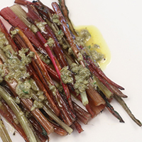 grilled chard stems
