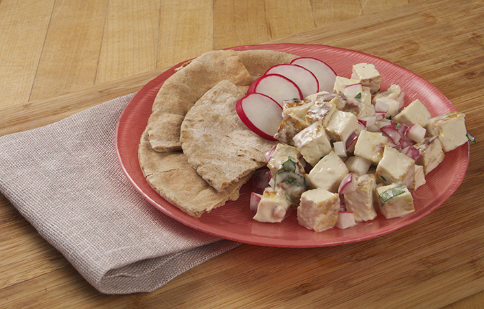 Tofu Salad with Radishes