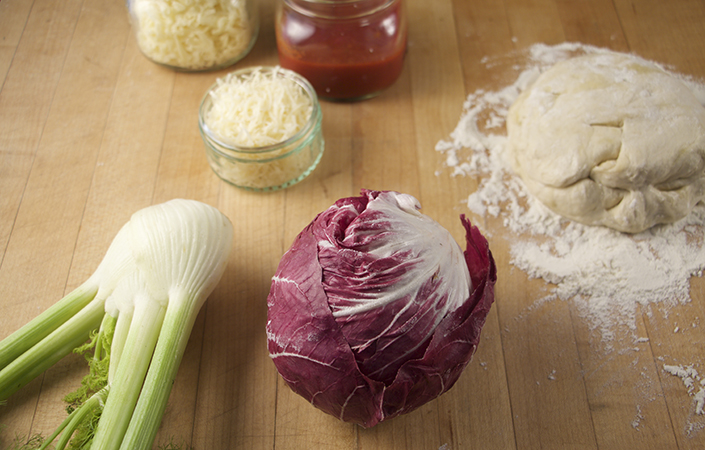 Spicy Radicchio & Fennel Pizza