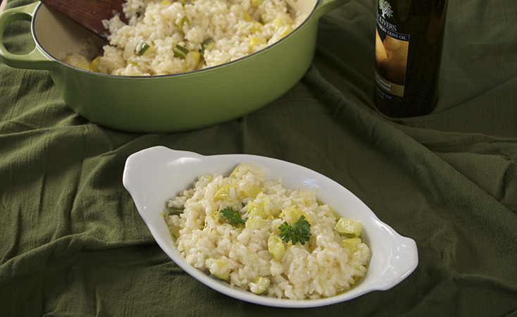 Lemon Risotto with Summer Squash