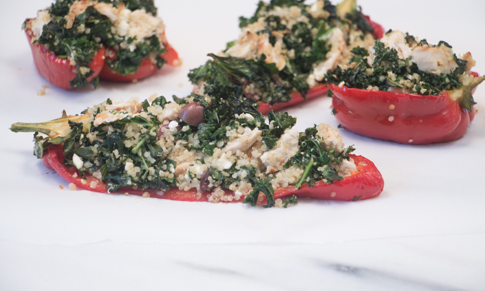 Peppers Stuffed with Greek Quinoa-6