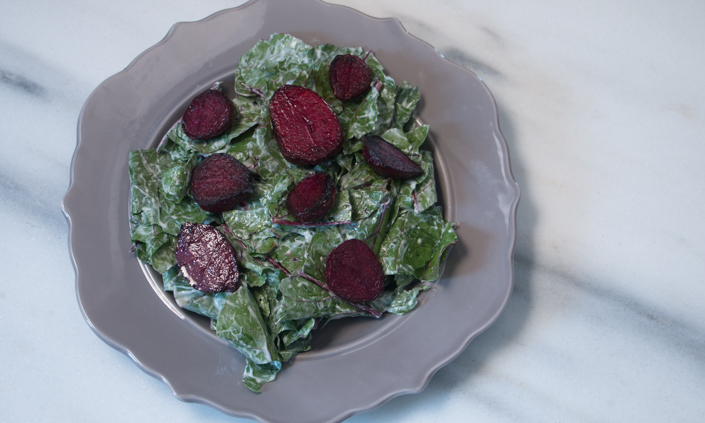 Pan-crisped Beet Salad with Buttermilk Dressing-4