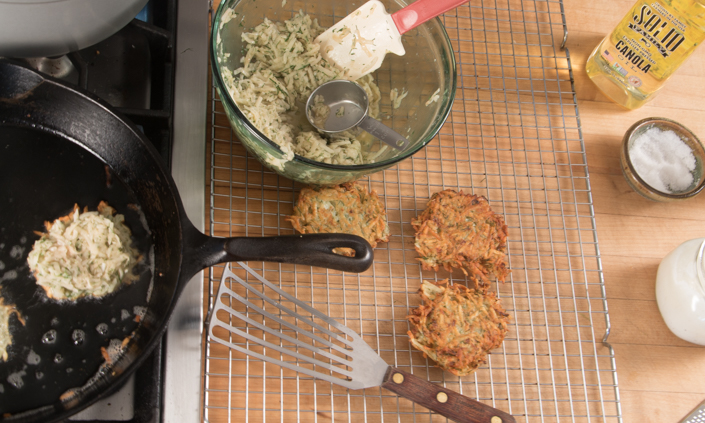 Dilled Potato Latkes