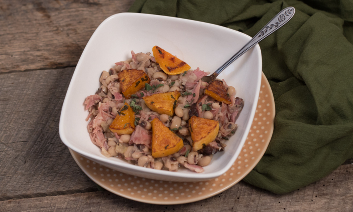 Black Eyed Peas with Sage Roasted Squash & Ham Hock-4