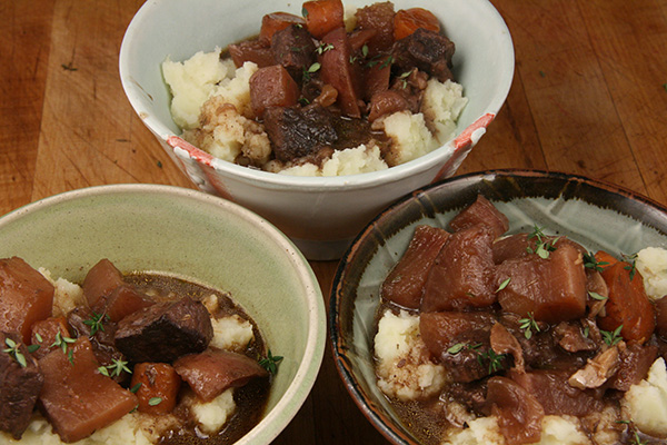 Beef Stew with Red Wine and Herbs