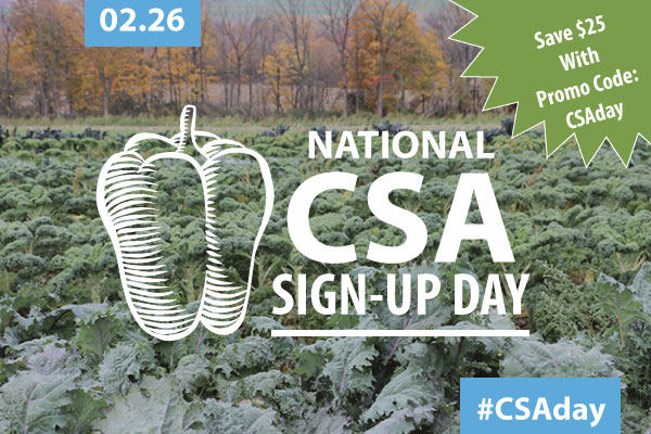 National CSA Sign-up Day!