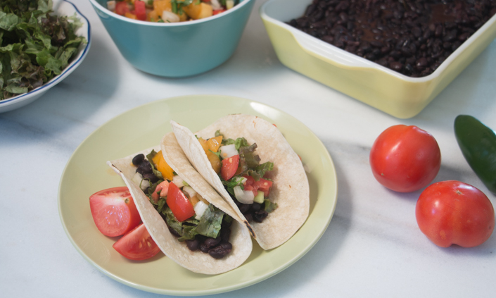 Slow Cooker Black Bean Tacos