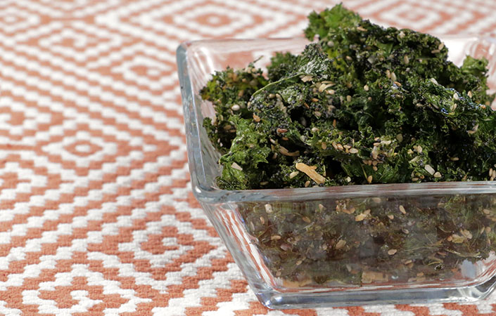 Everything Bagel Kale Chips