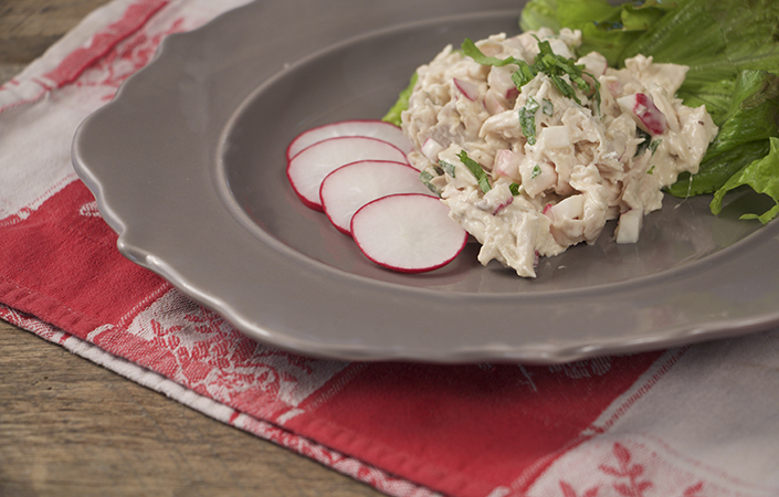Chicken Salad with Radishes