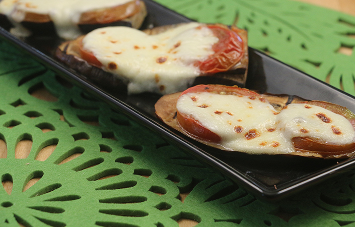 Grilled Eggplant with Mozzarella