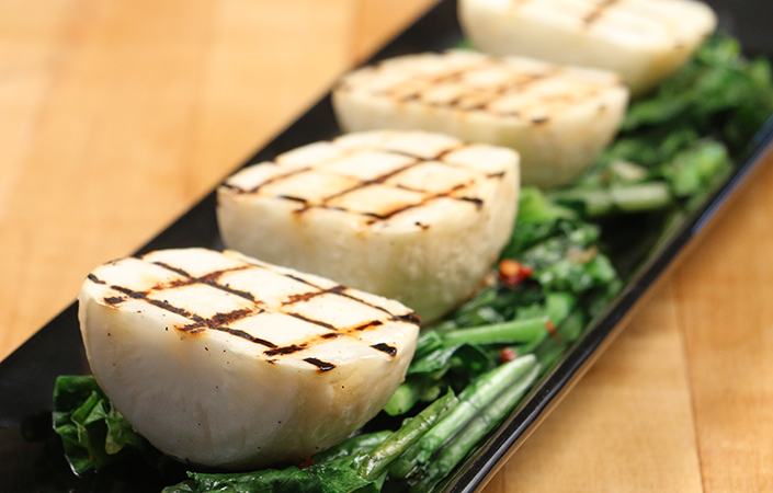 Grilled Hakurei Turnips