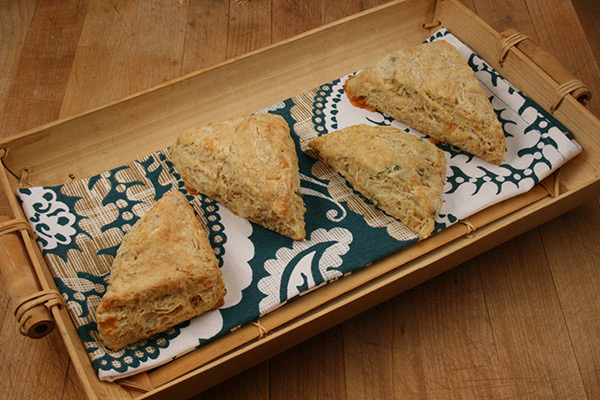 Parsnip Cheddar Scones with Sage