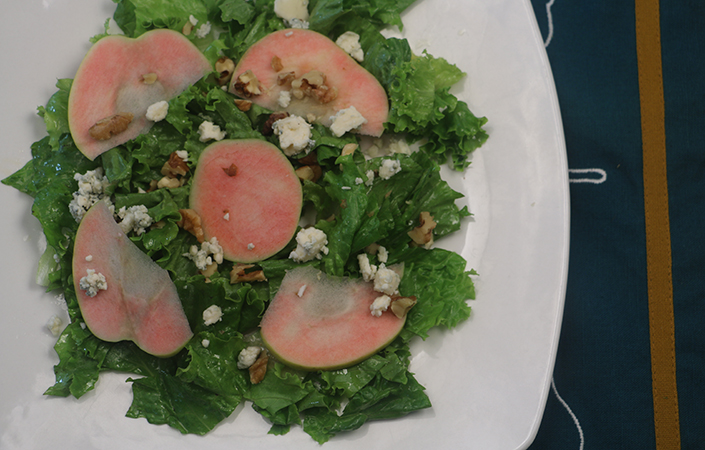 Apple, Walnut, & Blue Cheese Salad