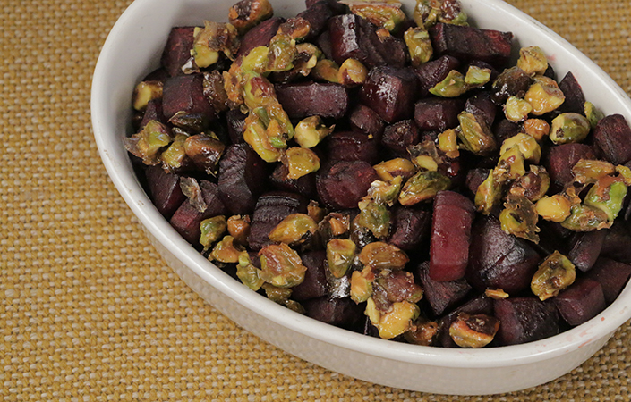 Roasted Beets with Candied Pistachios