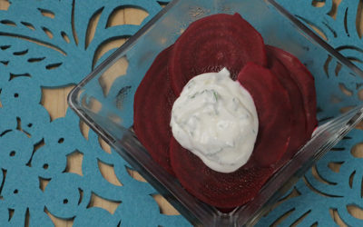 Black Pepper Poached Beets with Yogurt Sauce