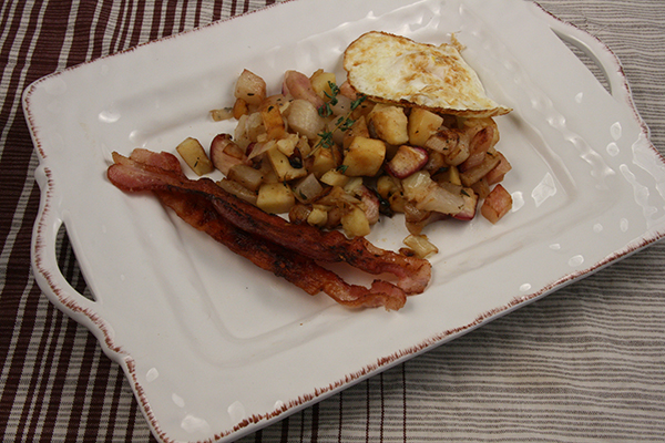 Turnip & Parsnip Breakfast Hash